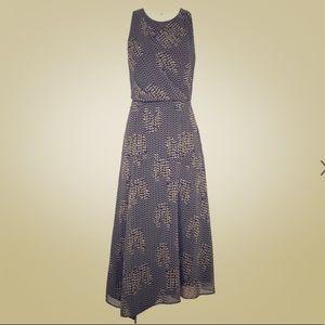 Reiss Naima Strappy Back Midi Dress